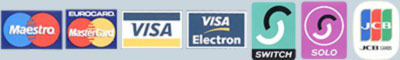 Picture of various credit cards to denote that Westraak can accept payment by credit card.